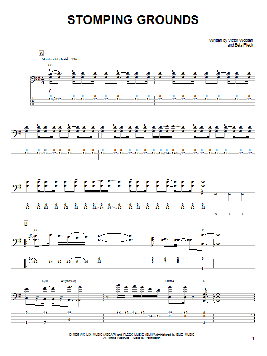 Stomping Grounds (Bass Guitar Tab)