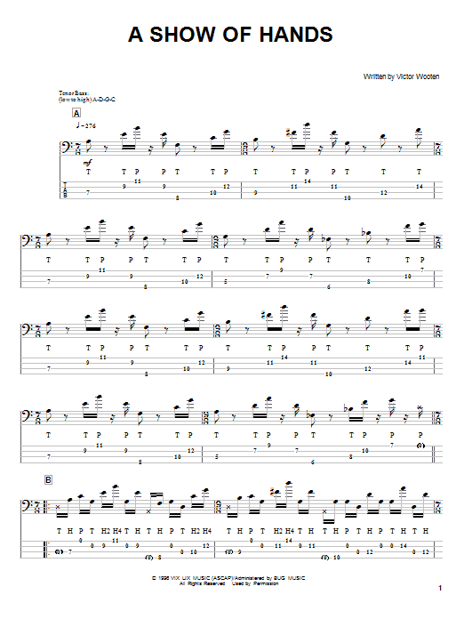 A Show Of Hands Sheet Music