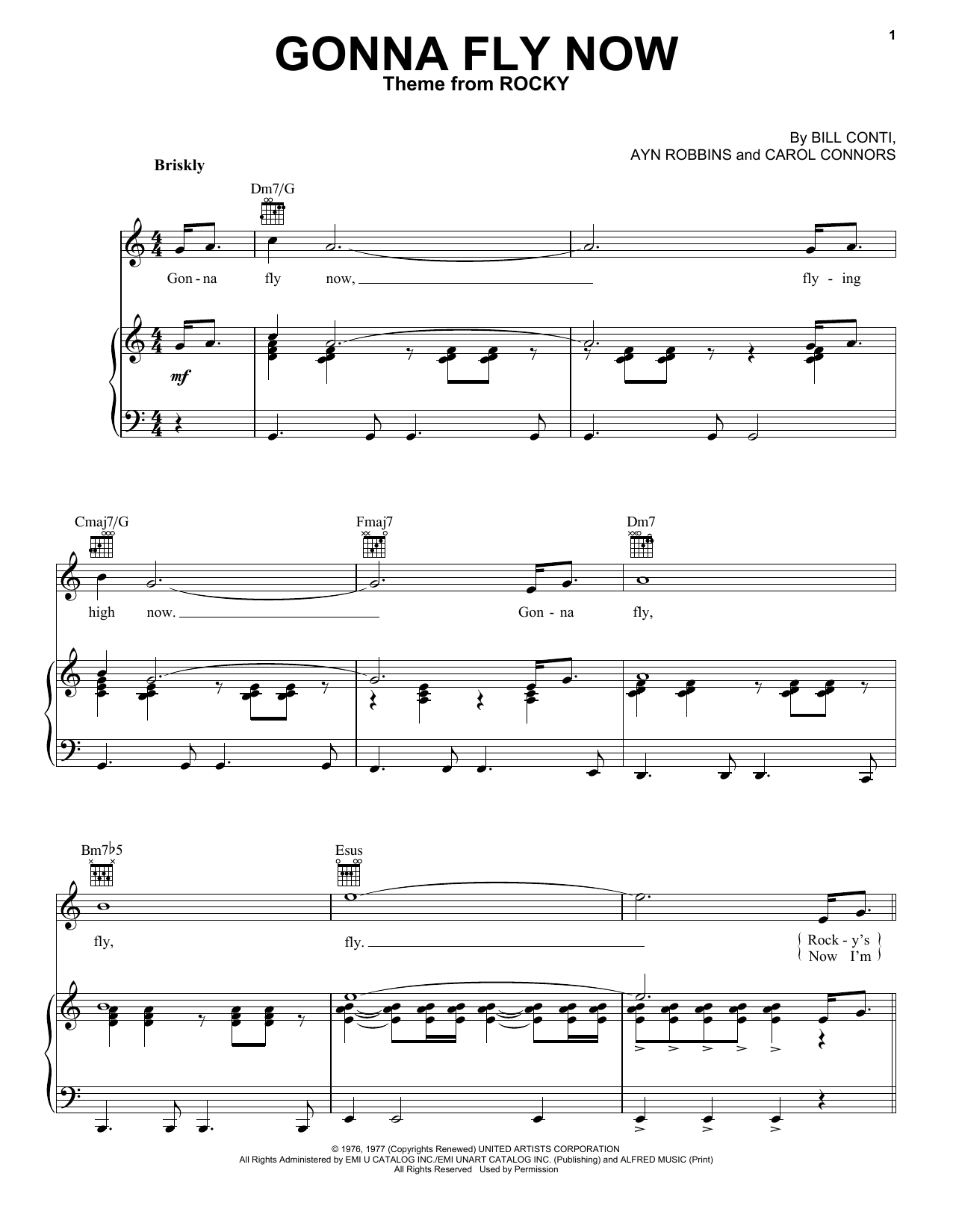 Gonna Fly Now Sheet Music