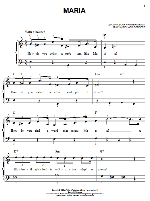 Maria Sheet Music
