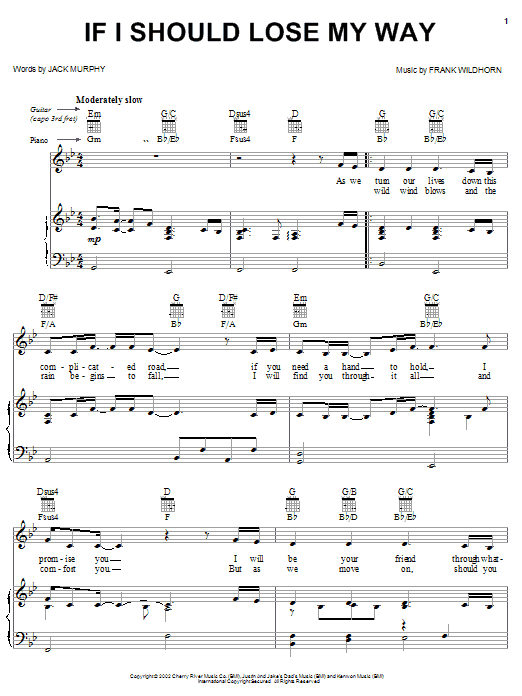 If I Should Lose My Way Sheet Music