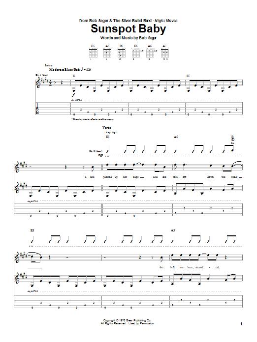 Sunspot Baby (Guitar Tab)