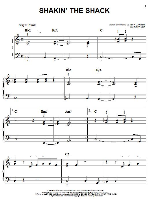 Shakin' The Shack Sheet Music