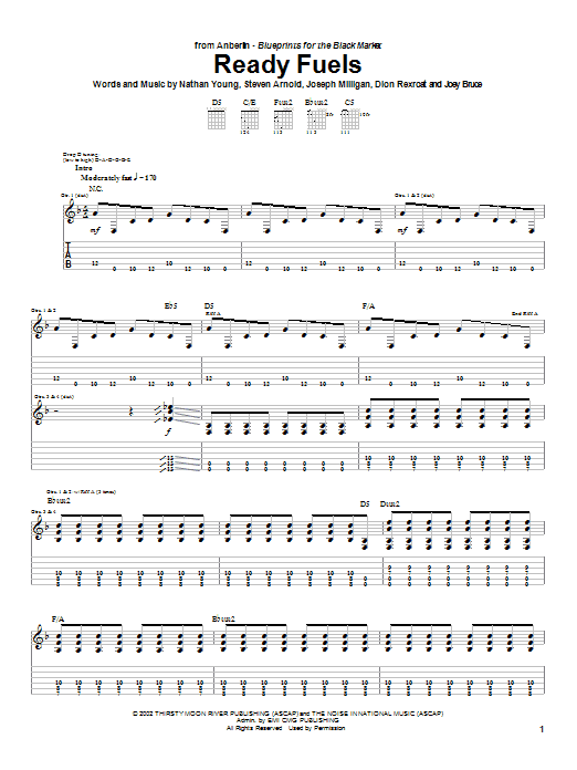 Ready Fuels (Guitar Tab)