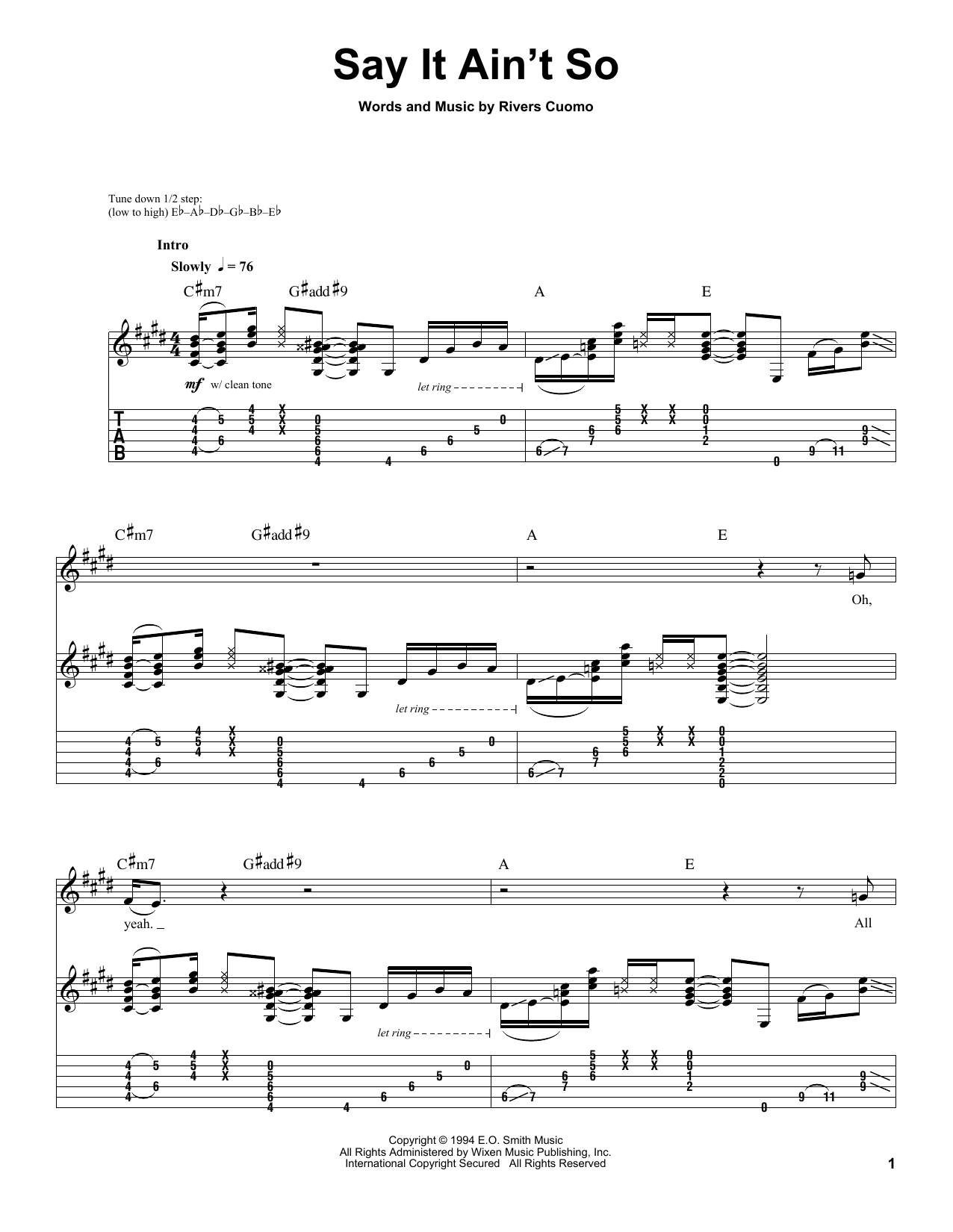 Island In The Sun  Weezer  Chords and Lyrics Lesson Guitaraoke  playwhatyoufeelcom