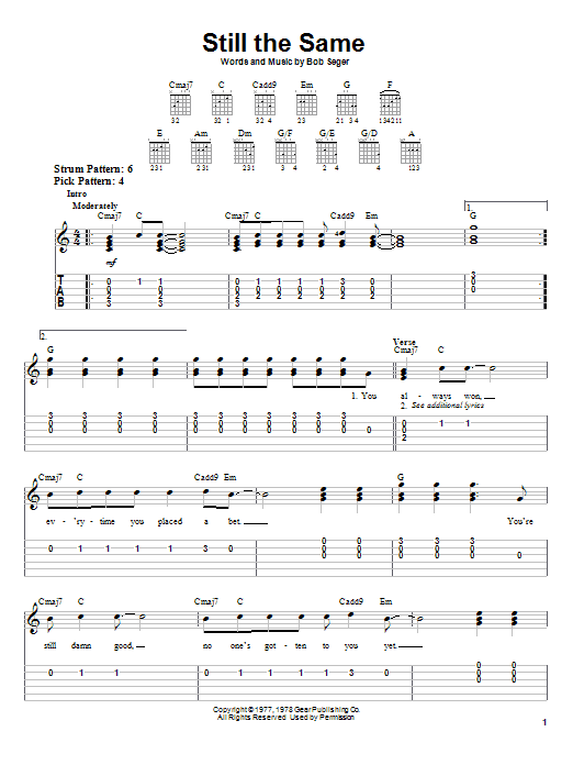 Still The Same (Easy Guitar Tab)