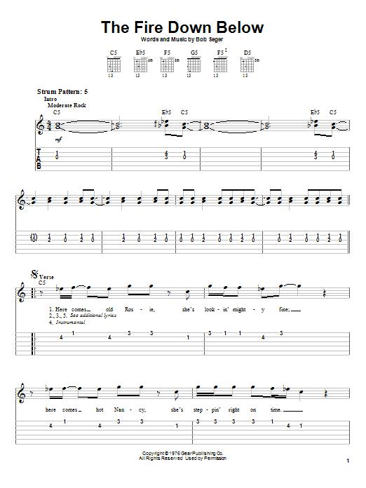 The Fire Down Below (Easy Guitar Tab)