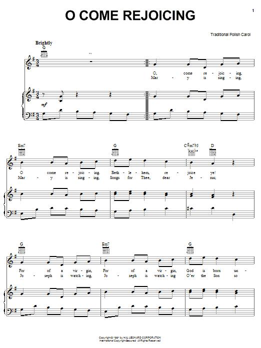 O Come Rejoicing Sheet Music