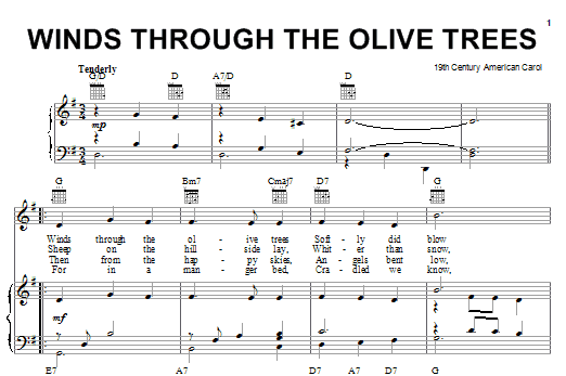 Winds Through The Olive Trees Sheet Music