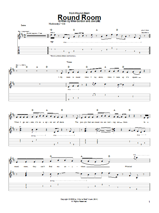 Round Room Sheet Music