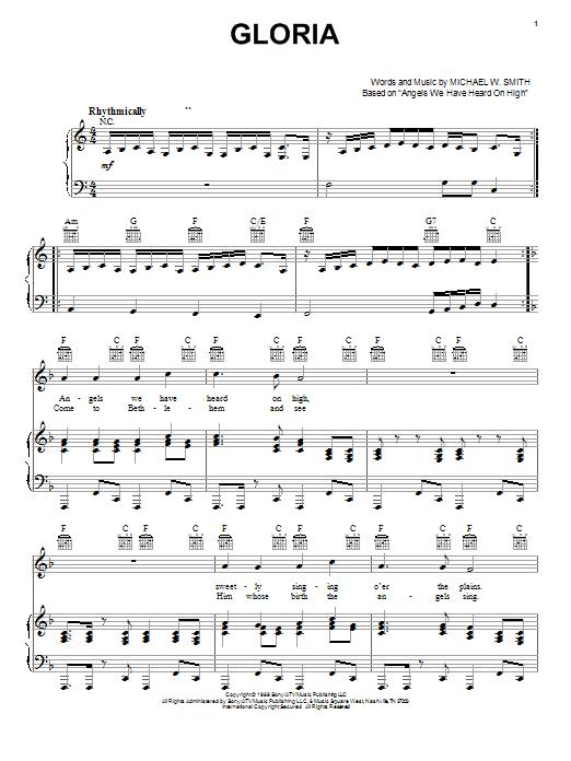 Gloria (Piano, Vocal & Guitar (Right-Hand Melody))