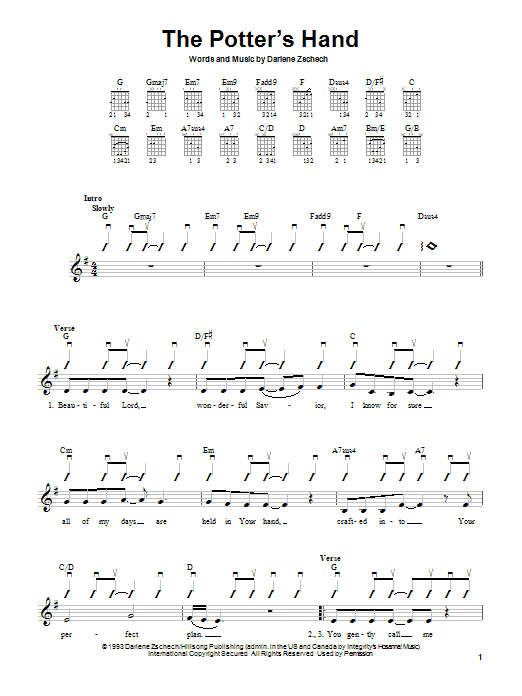 The Potter's Hand Sheet Music