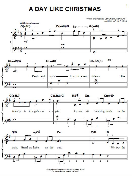 A Day Like Christmas Sheet Music