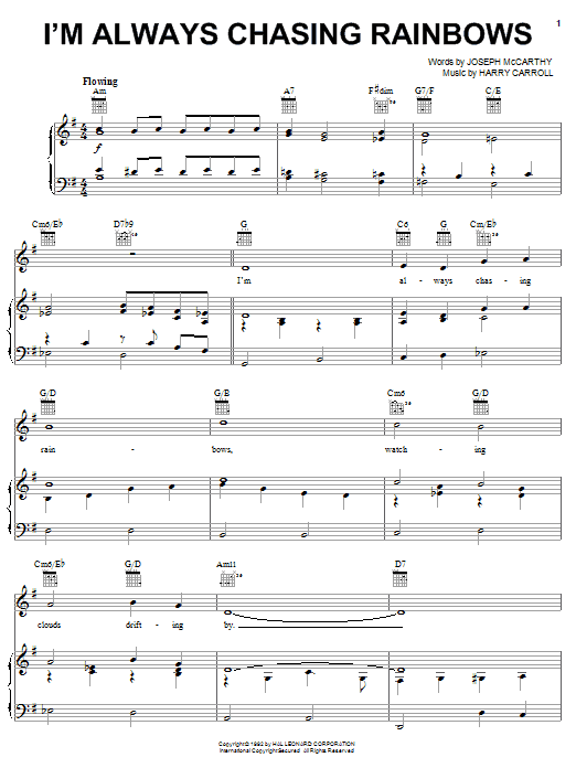 I'm Always Chasing Rainbows Sheet Music