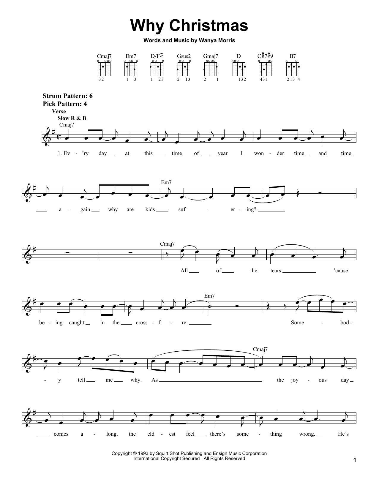 Tablature guitare Why Christmas de Boyz II Men - Tablature guitare facile