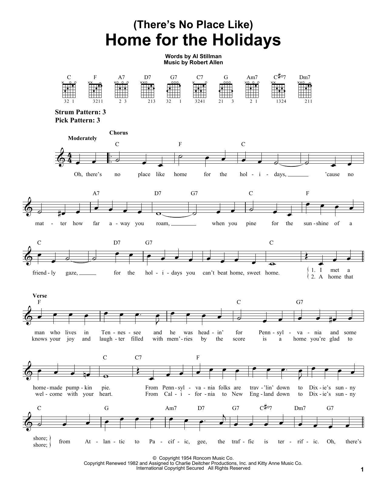 There S No Place Like Home For The Holidays Sheet Music