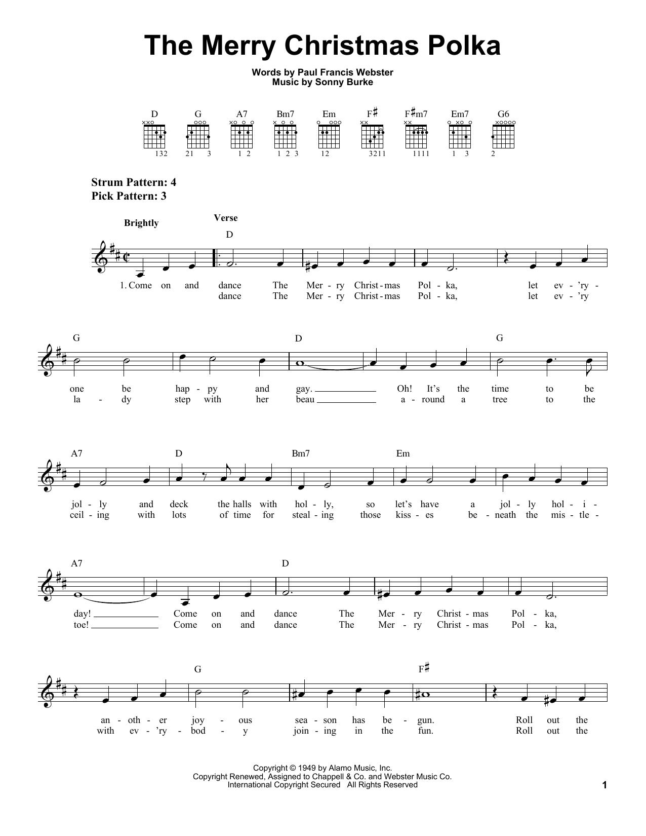 The Merry Christmas Polka (Easy Guitar)