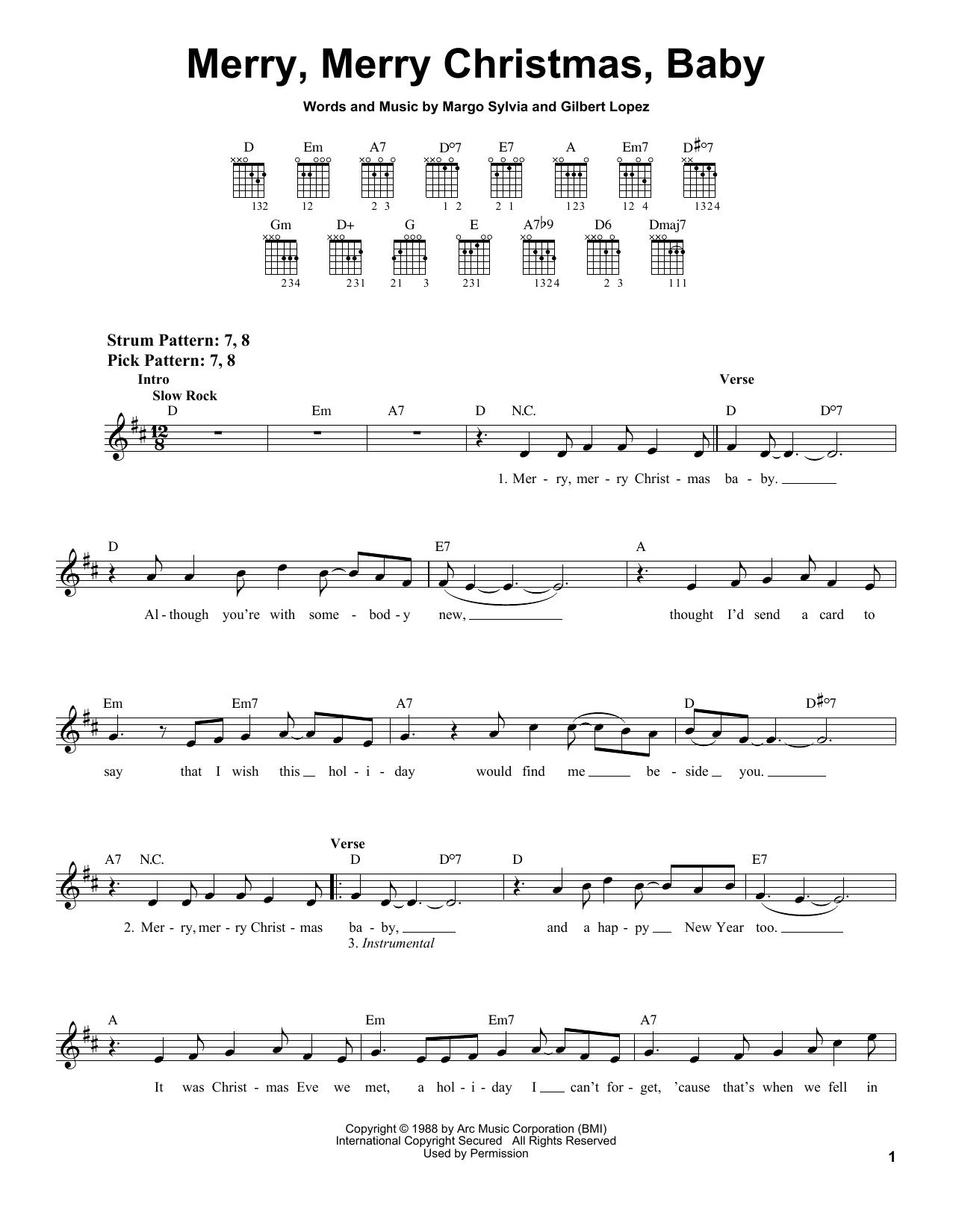 Merry, Merry Christmas, Baby (Easy Guitar)