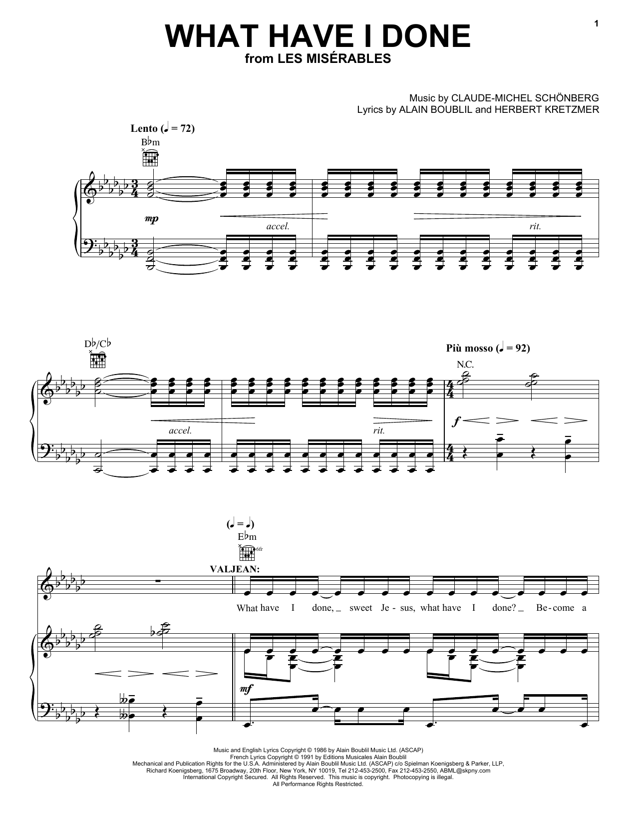 What Have I Done Sheet Music