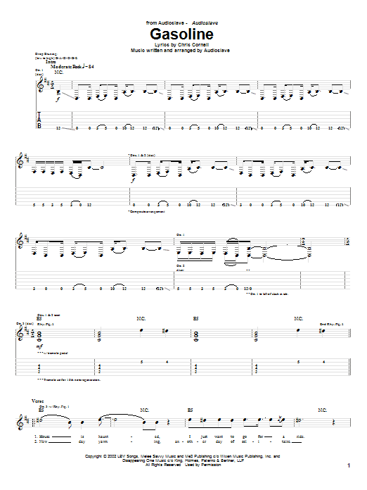 Gasoline Sheet Music