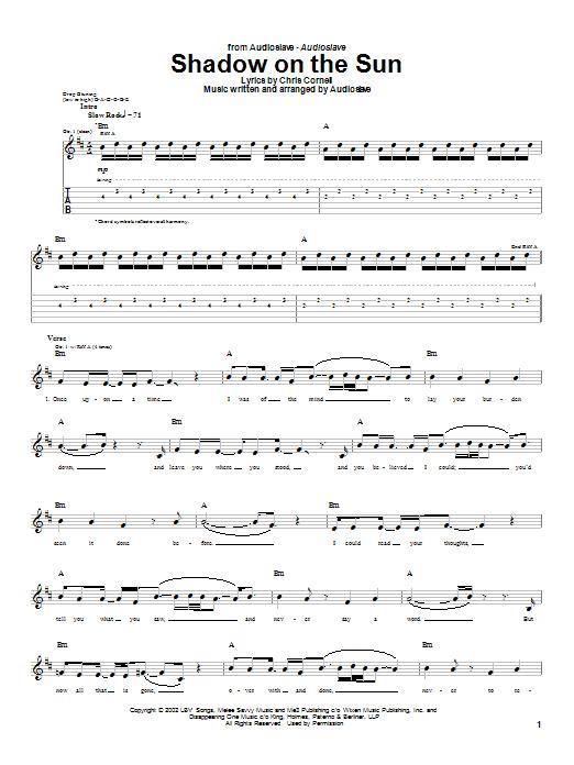 Shadow On The Sun (Guitar Tab)
