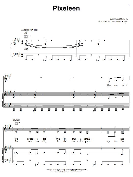 Pixeleen (Piano, Vocal & Guitar (Right-Hand Melody))