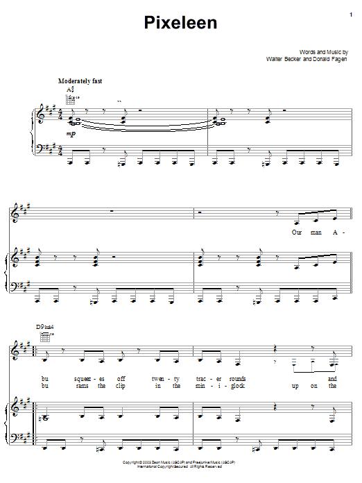 Partition piano Pixeleen de Steely Dan - Piano Voix Guitare (Mélodie Main Droite)