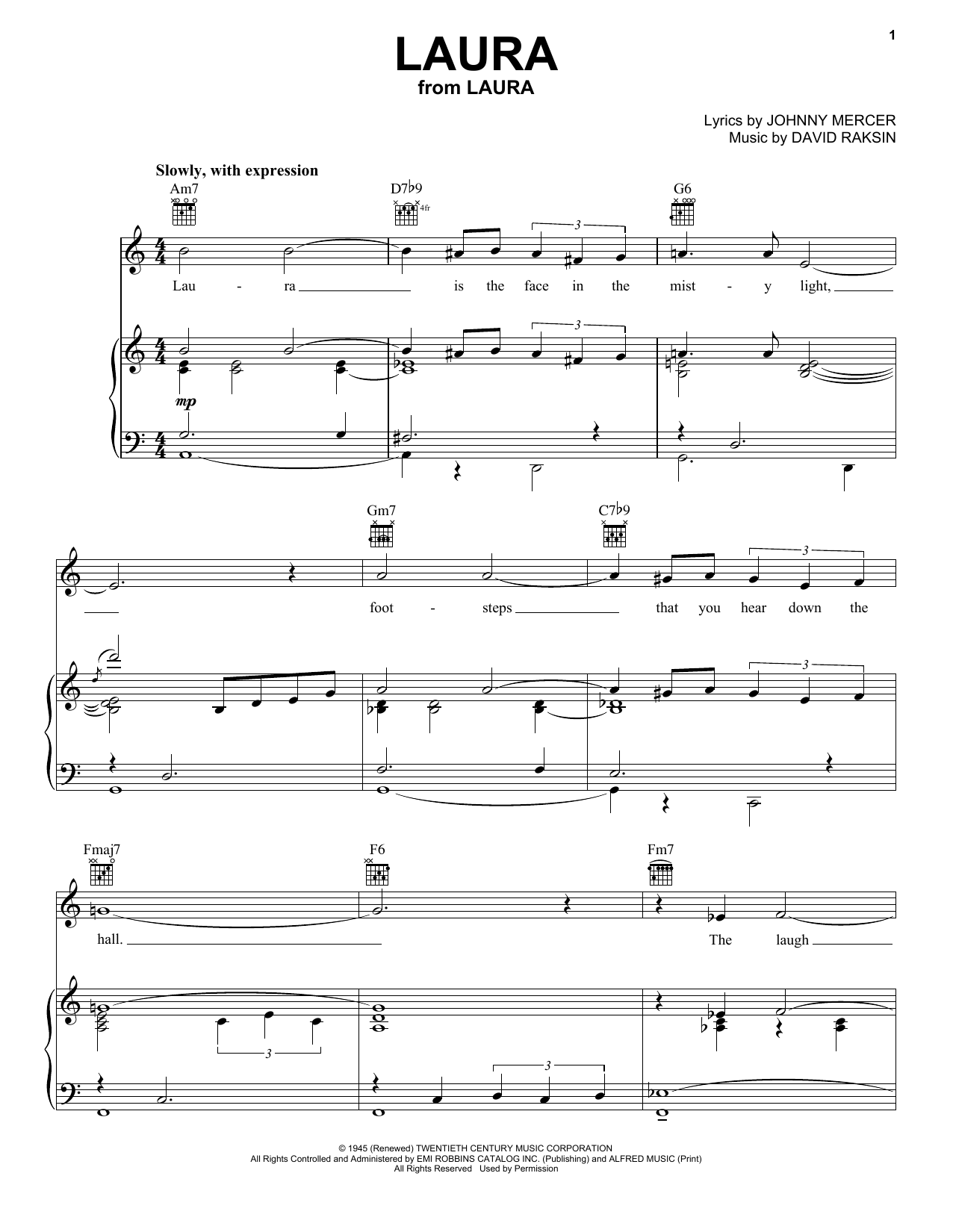 Laura Sheet Music