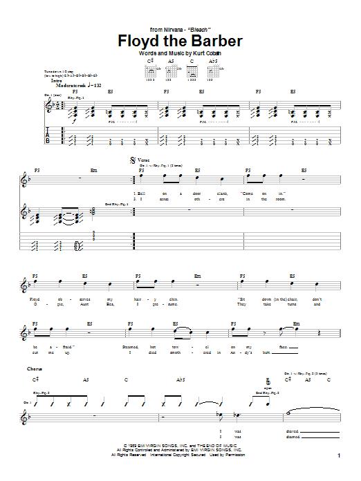 Floyd The Barber Sheet Music
