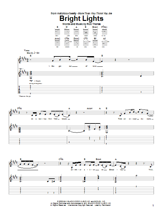 Bright Lights Sheet Music