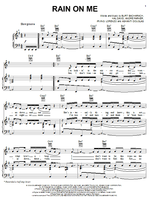 Rain On Me Sheet Music
