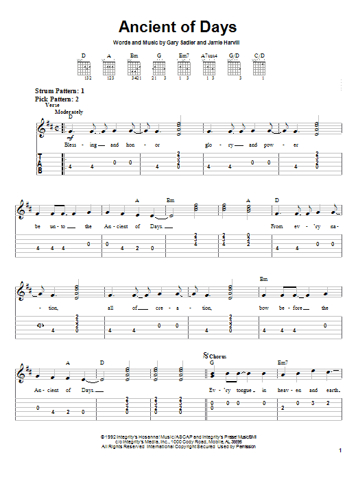 Ancient Of Days (Easy Guitar Tab)