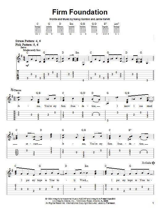 Firm Foundation (Easy Guitar Tab)