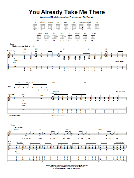You Already Take Me There (Guitar Tab)