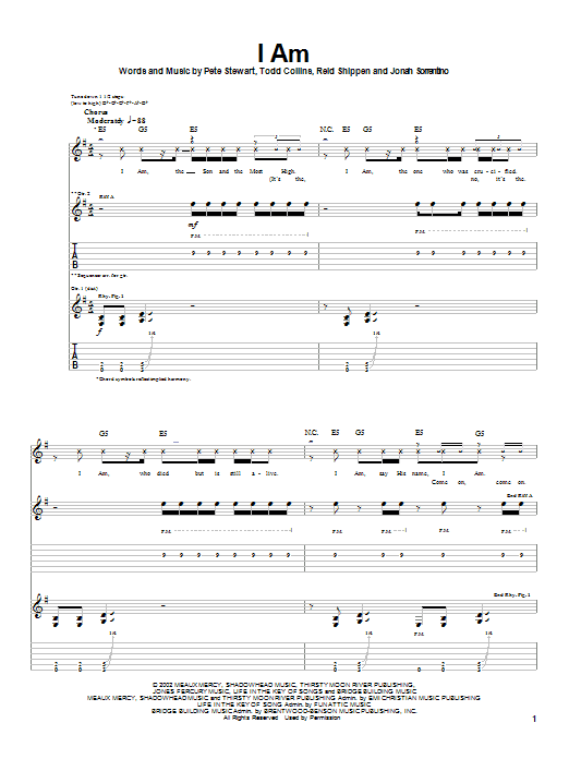 I Am (Guitar Tab)