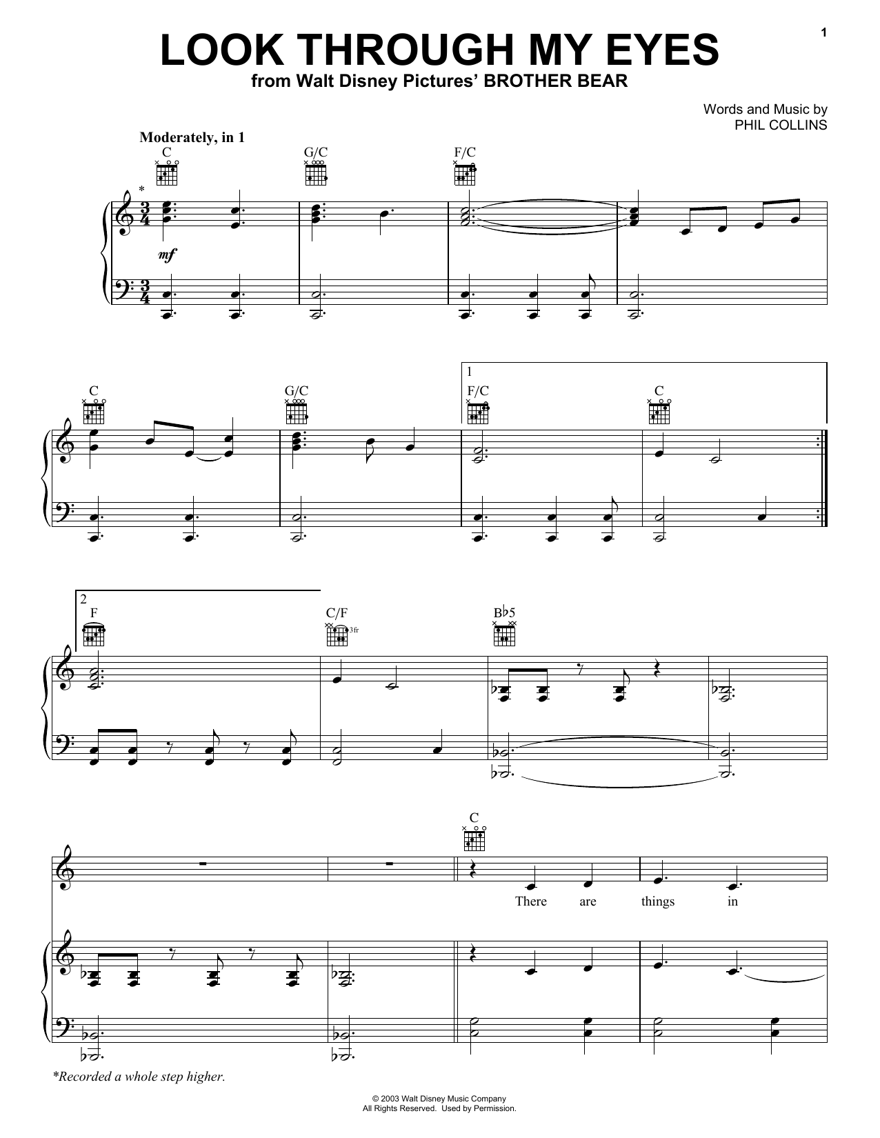 Look Through My Eyes Sheet Music