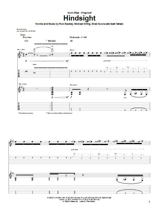 Hindsight Sheet Music