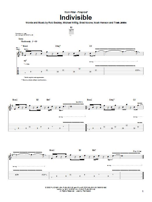 Indivisible (Guitar Tab)