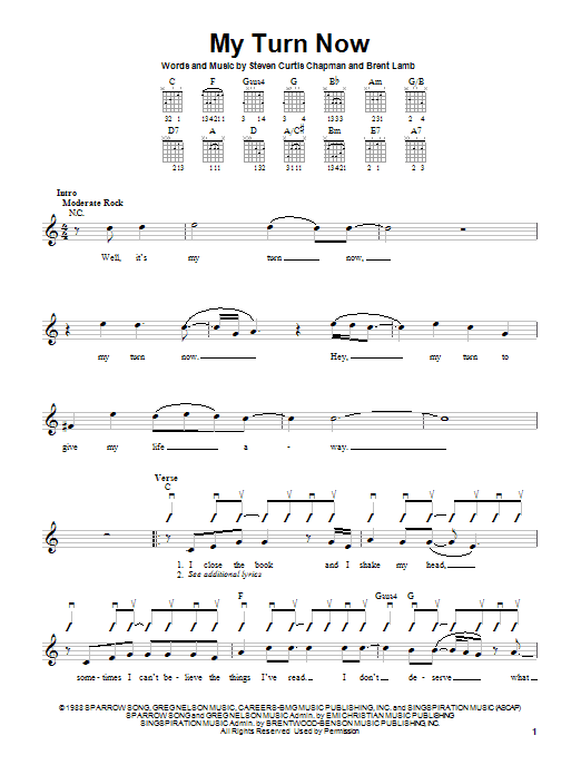 My Turn Now Sheet Music