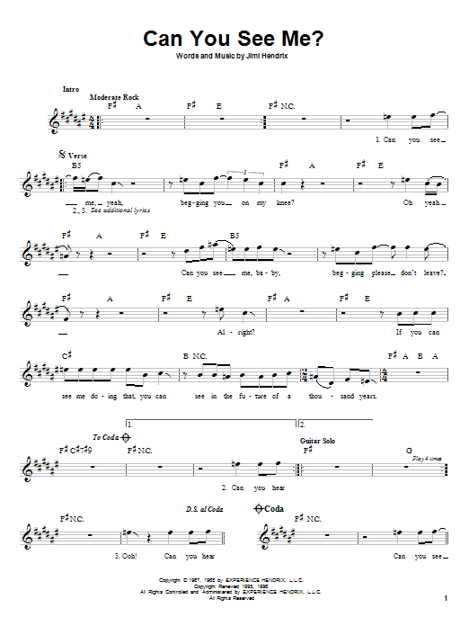 Can You See Me? Sheet Music