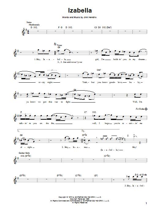 Izabella Sheet Music