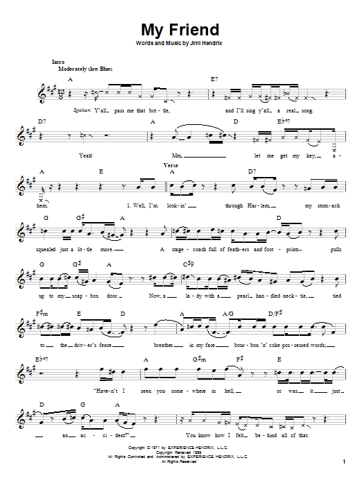 My Friend Sheet Music