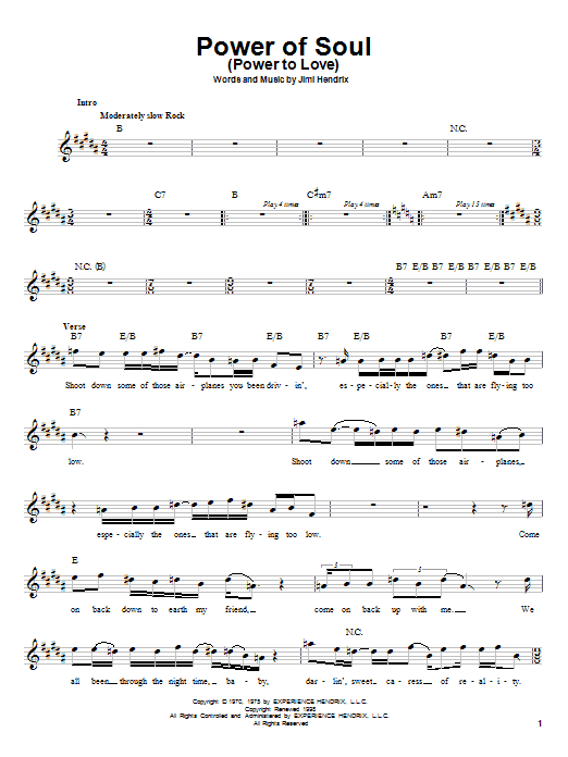 Power Of Soul (Power To Love) Sheet Music