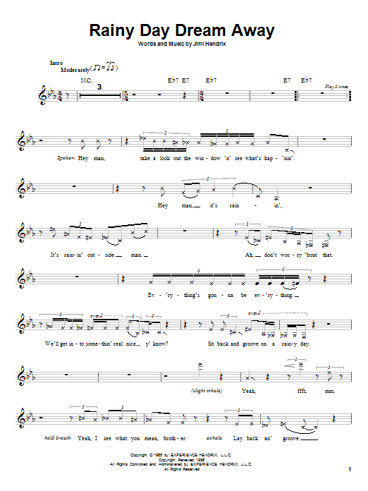 Rainy Day Dream Away Sheet Music