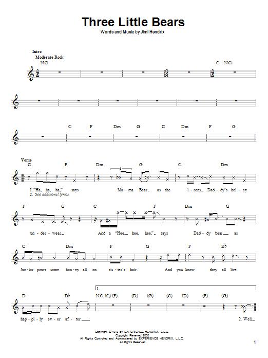 Three Little Bears Sheet Music