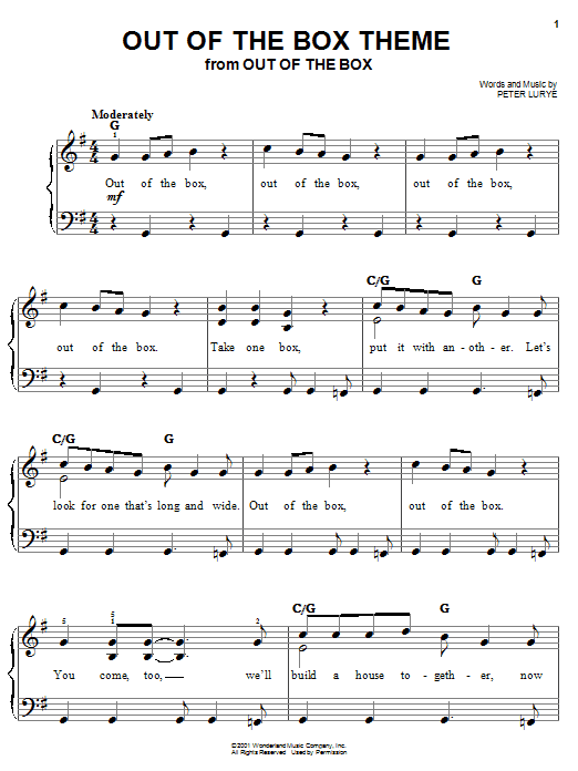 Out Of The Box Theme Sheet Music