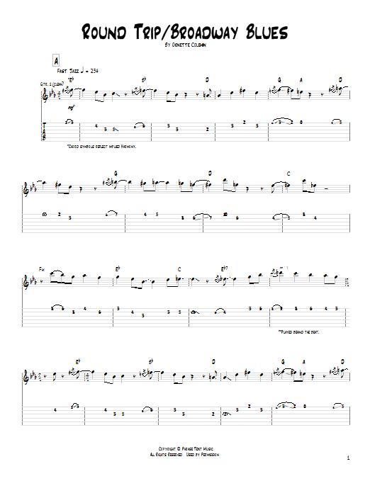 Round Trip / Broadway Blues Sheet Music