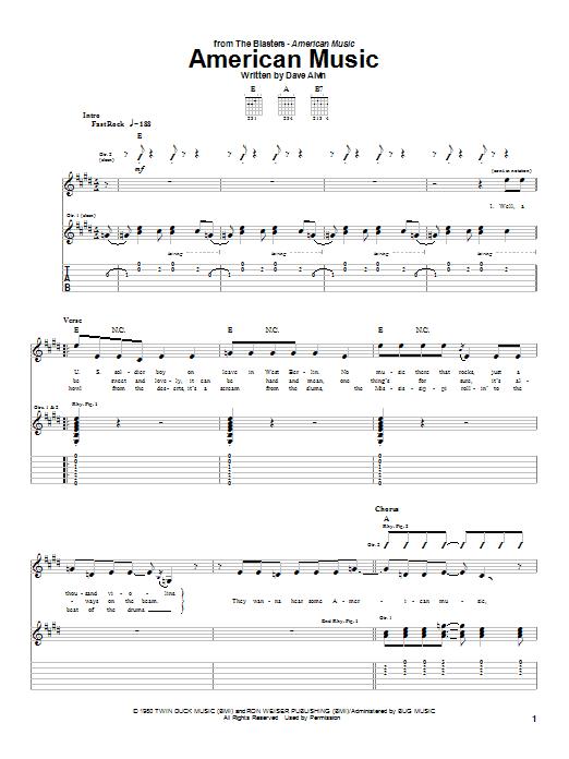 American Music (Guitar Tab)
