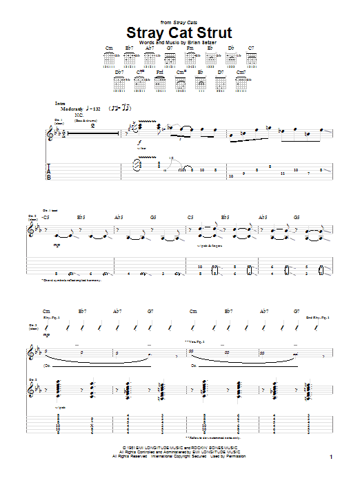 Stray Cat Strut Sheet Music