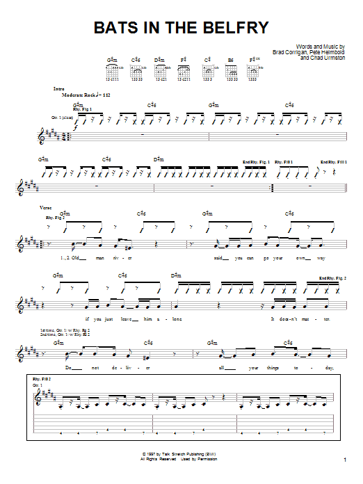 Bats In The Belfry Sheet Music